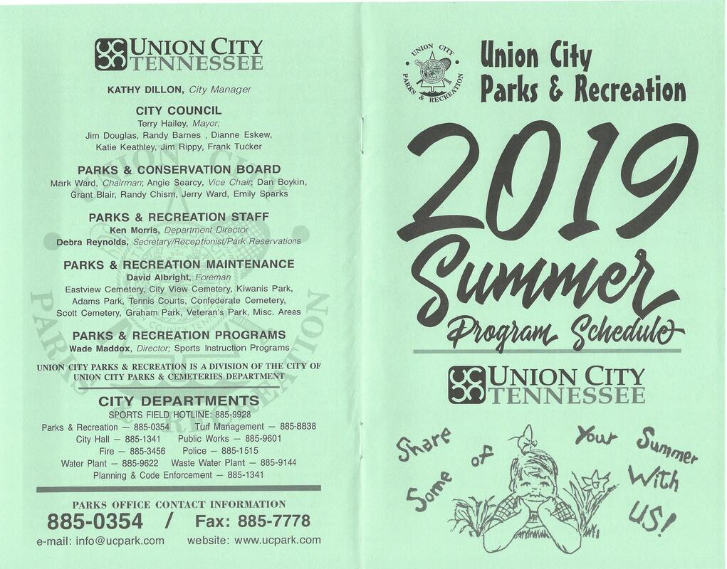 2019 Summer Programs and Schedule - Union City Parks